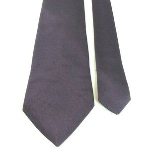 "Boss Hugo Boss 100% Silk Solid Purple 58 1/2"" Long"
